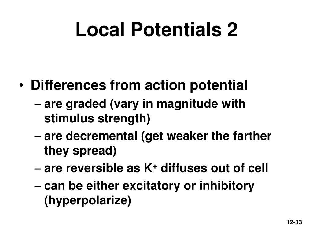 Local Potentials 2
