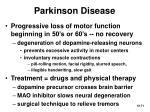 parkinson disease