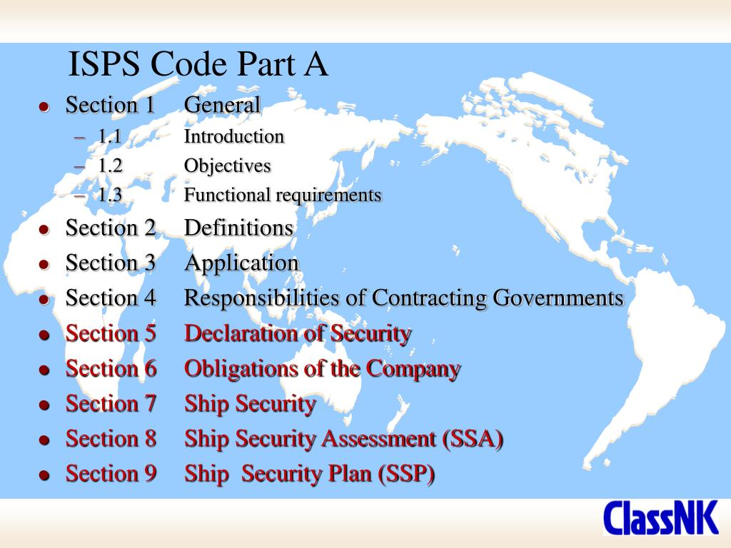 ISPS Code Part A