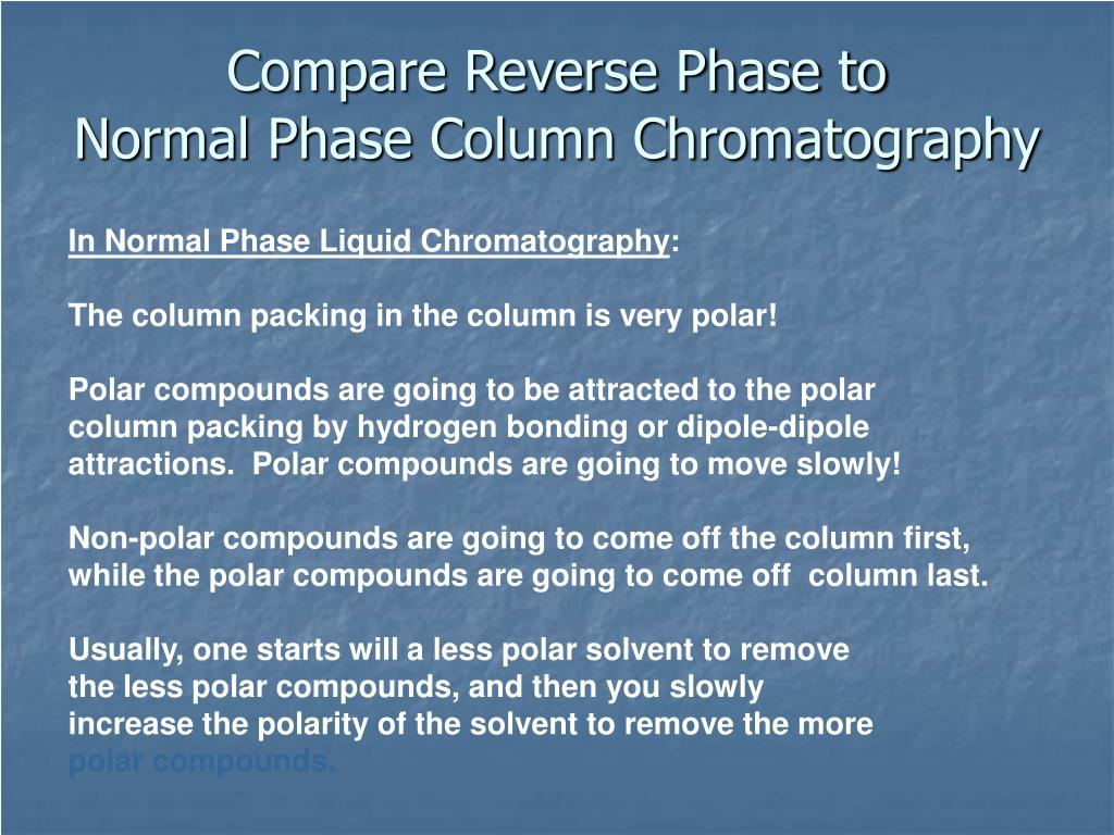 Compare Reverse Phase to