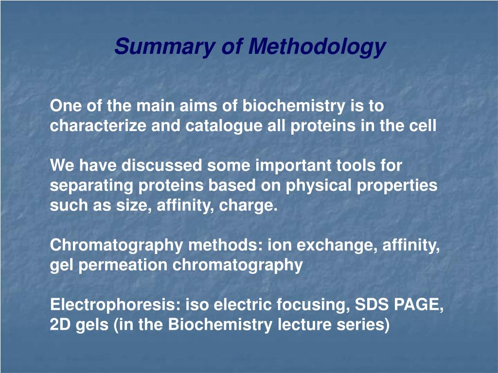 Summary of Methodology