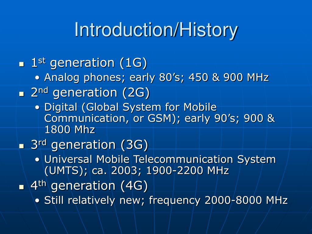 Introduction/History