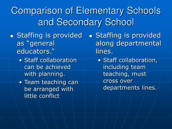 "Staffing is provided as ""general educators."""