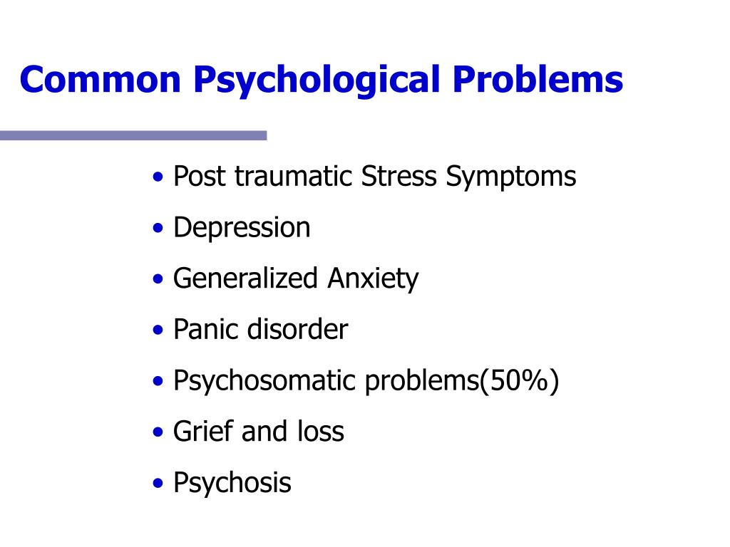 Common Psychological Problems