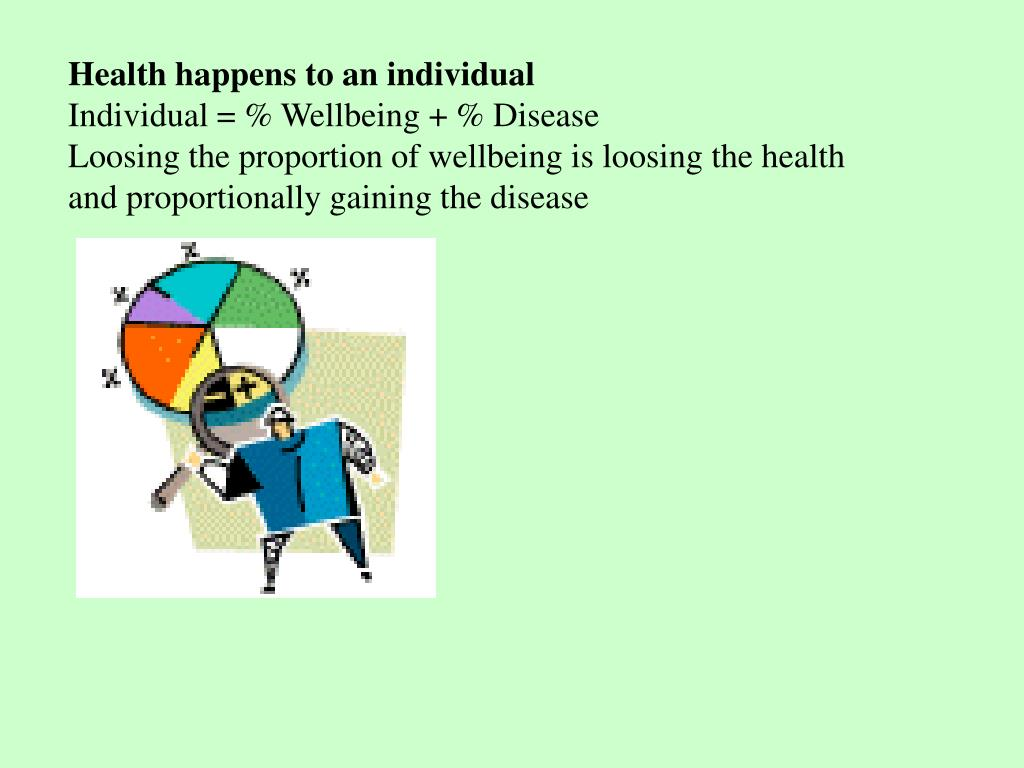 Health happens to an individual