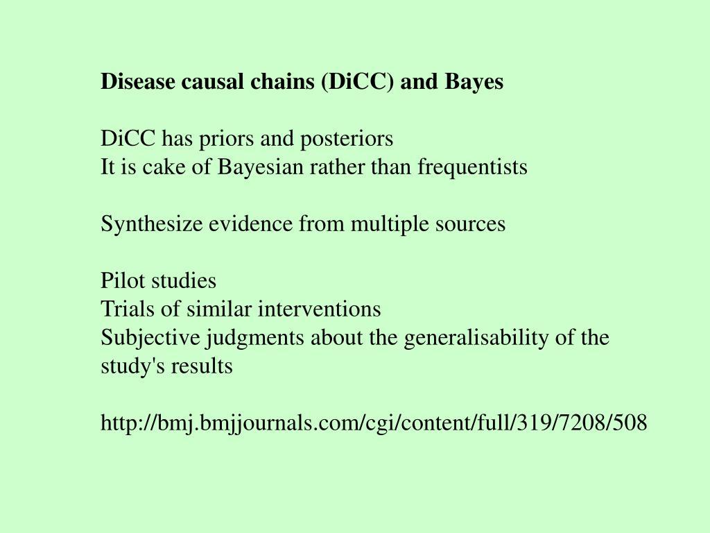 Disease causal chains