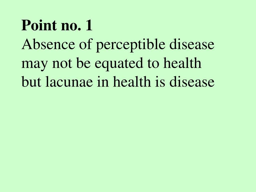 Point no. 1