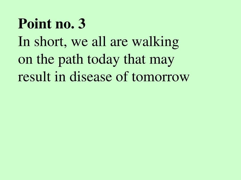 Point no. 3
