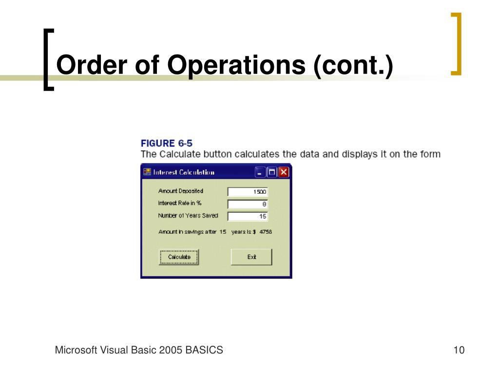 Order of Operations (cont.)