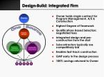 design build integrated firm