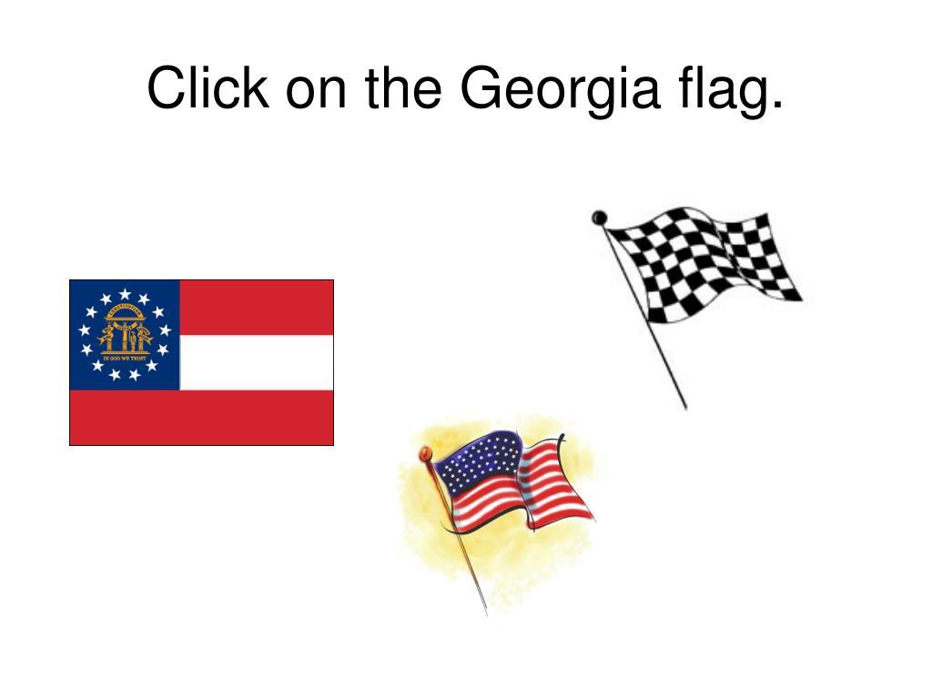 Click on the Georgia flag.