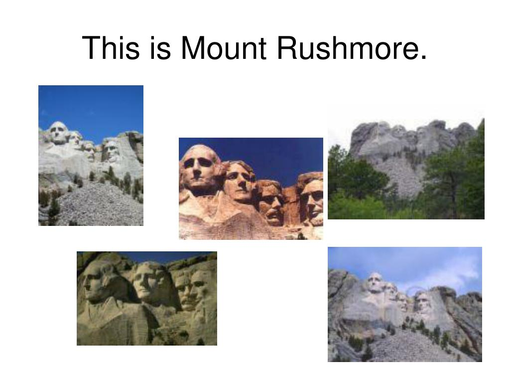 This is Mount Rushmore.