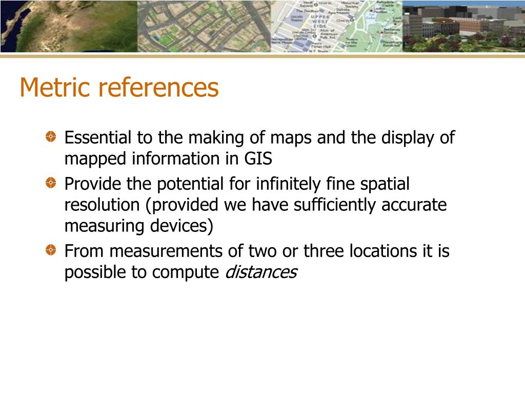 Metric references