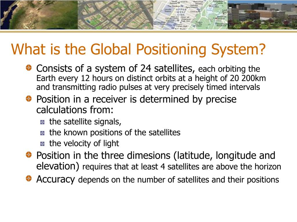 What is the Global Positioning System?