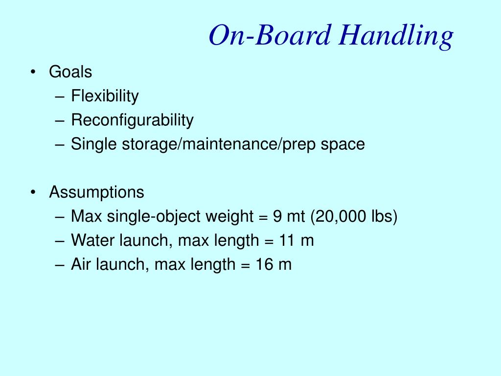 On-Board Handling