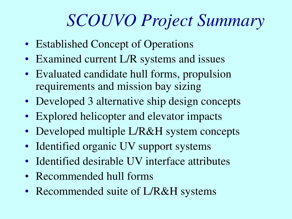 SCOUVO Project Summary