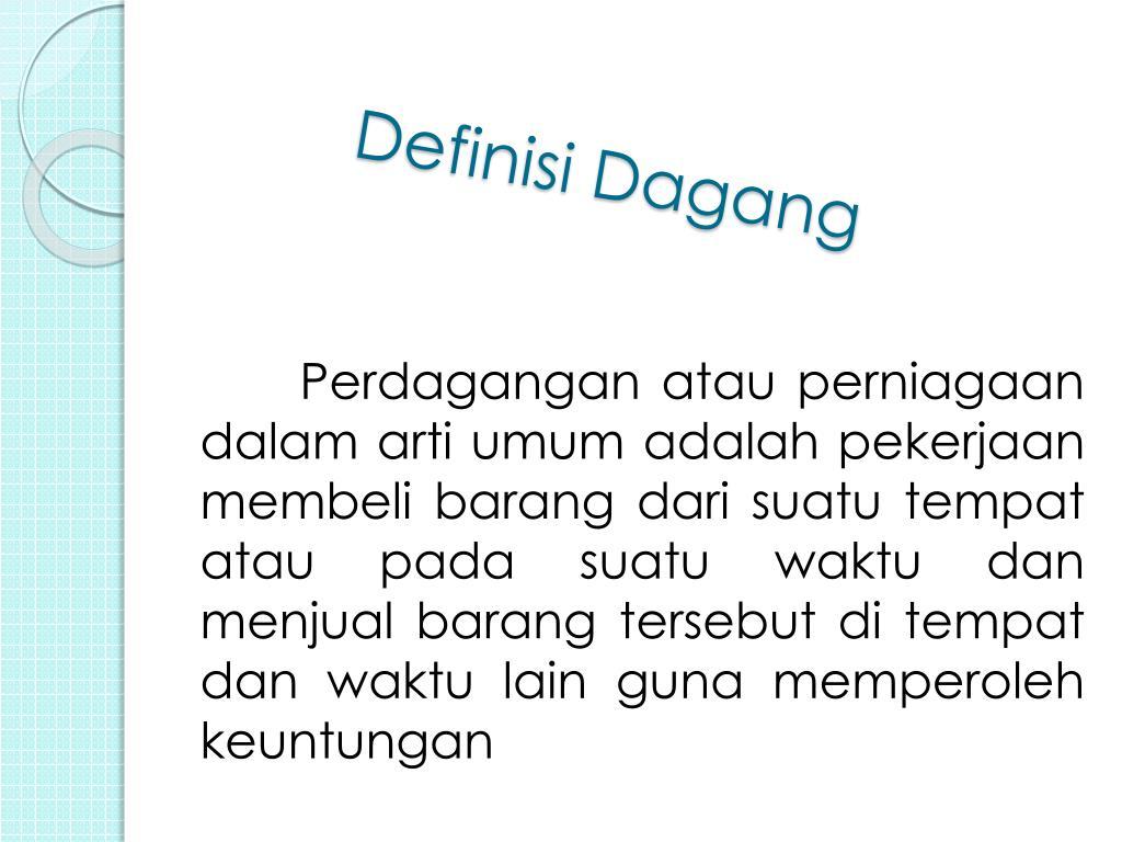 Definisi Dagang