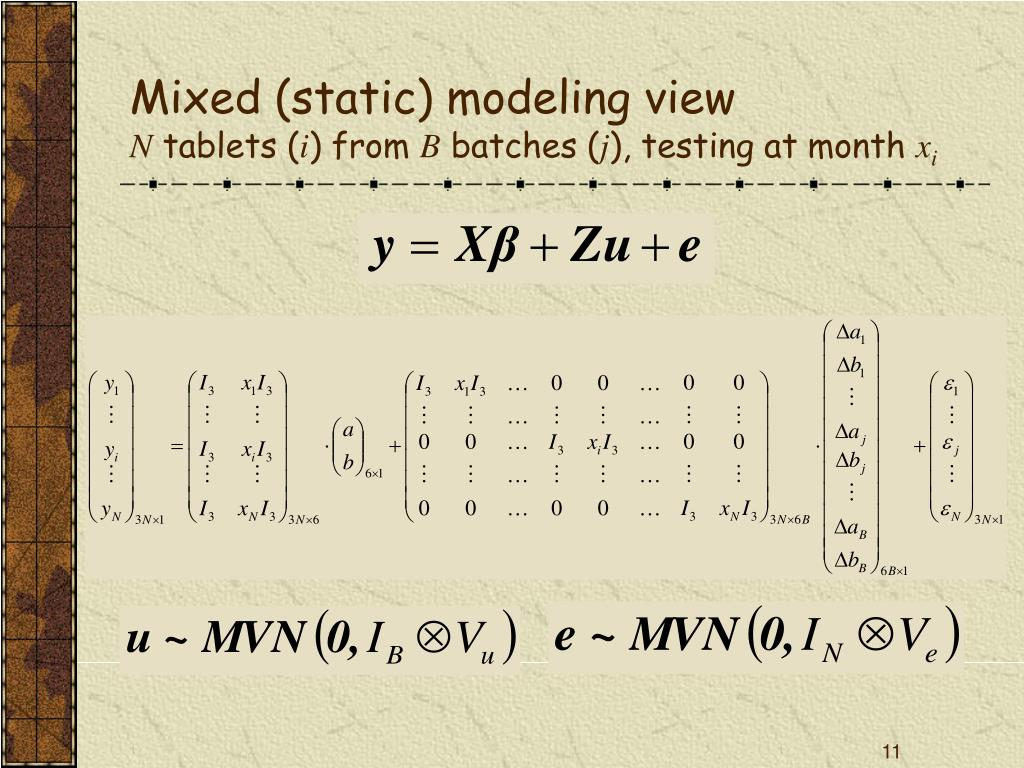 Mixed (static) modeling view