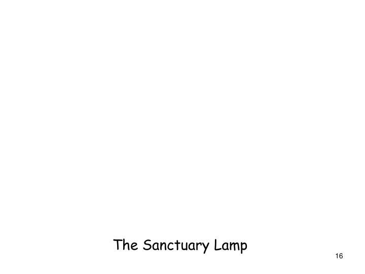 The Sanctuary Lamp