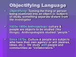 objectifying language