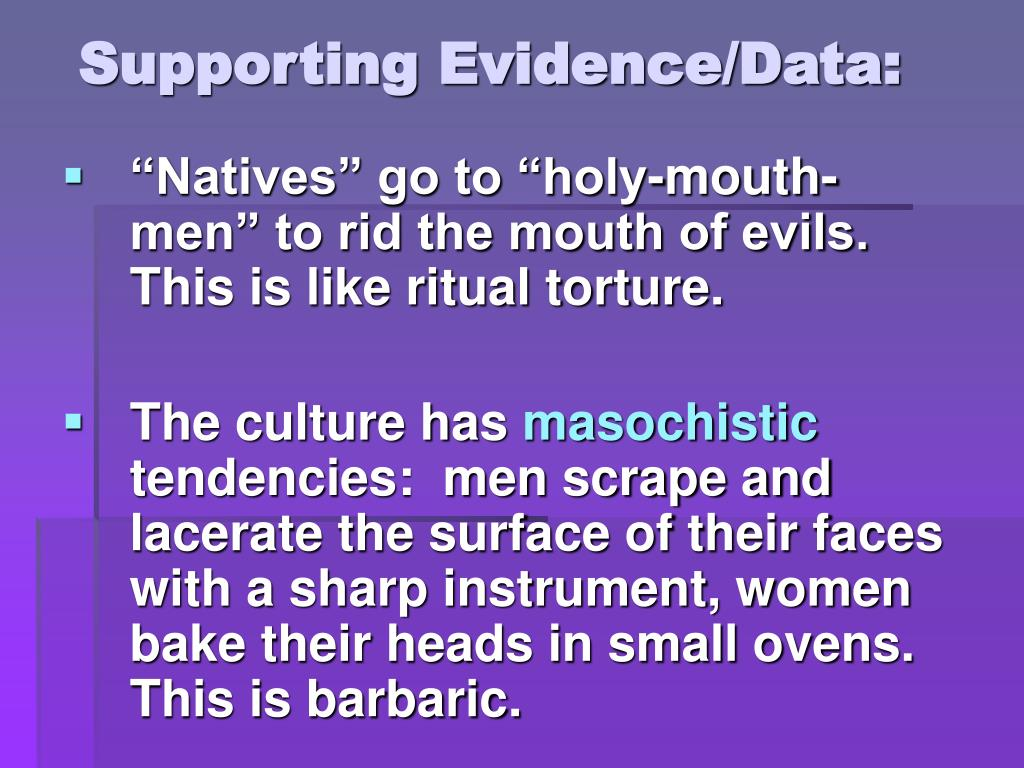 Supporting Evidence/Data: