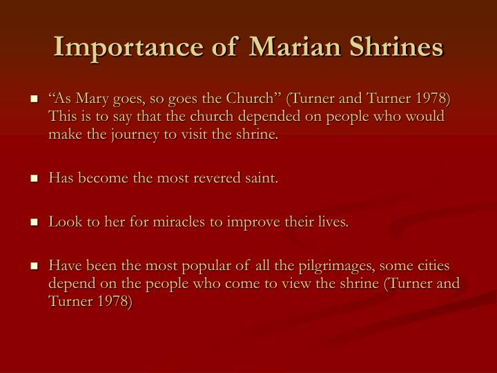 Importance of Marian Shrines