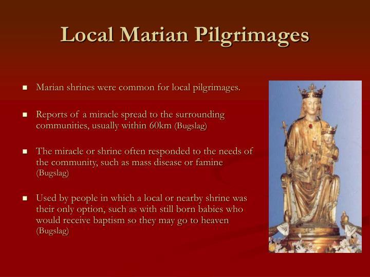 Local Marian Pilgrimages