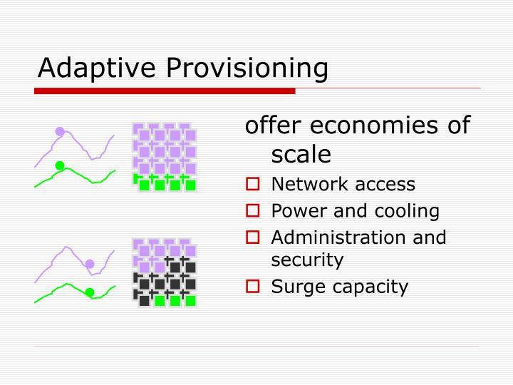 Adaptive Provisioning