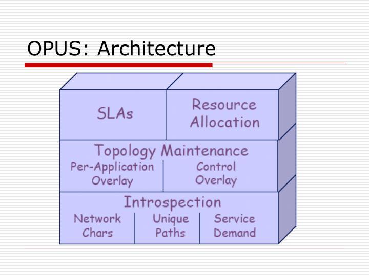 OPUS: Architecture