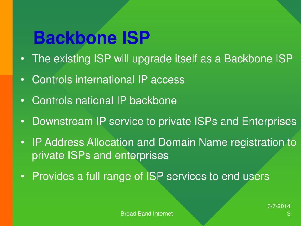Backbone ISP