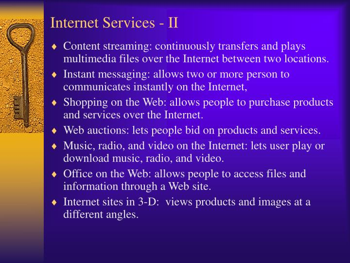 Internet Services - II