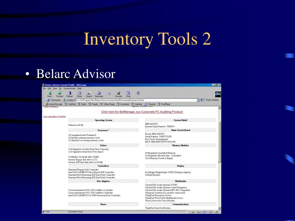 Inventory Tools 2