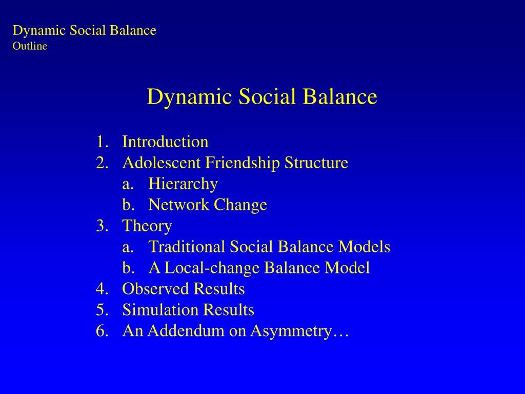 Dynamic Social Balance