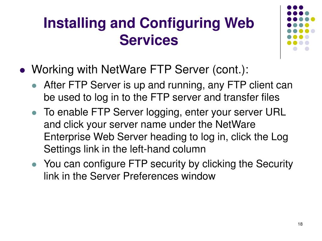 Installing and Configuring Web Services