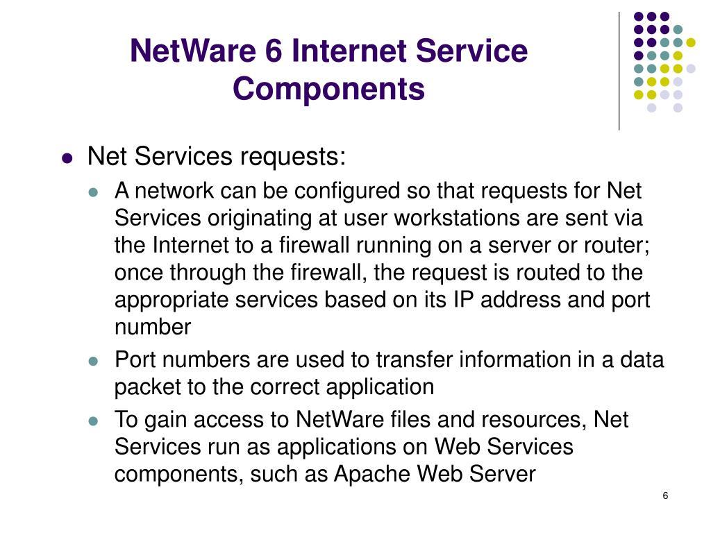 NetWare 6 Internet Service Components