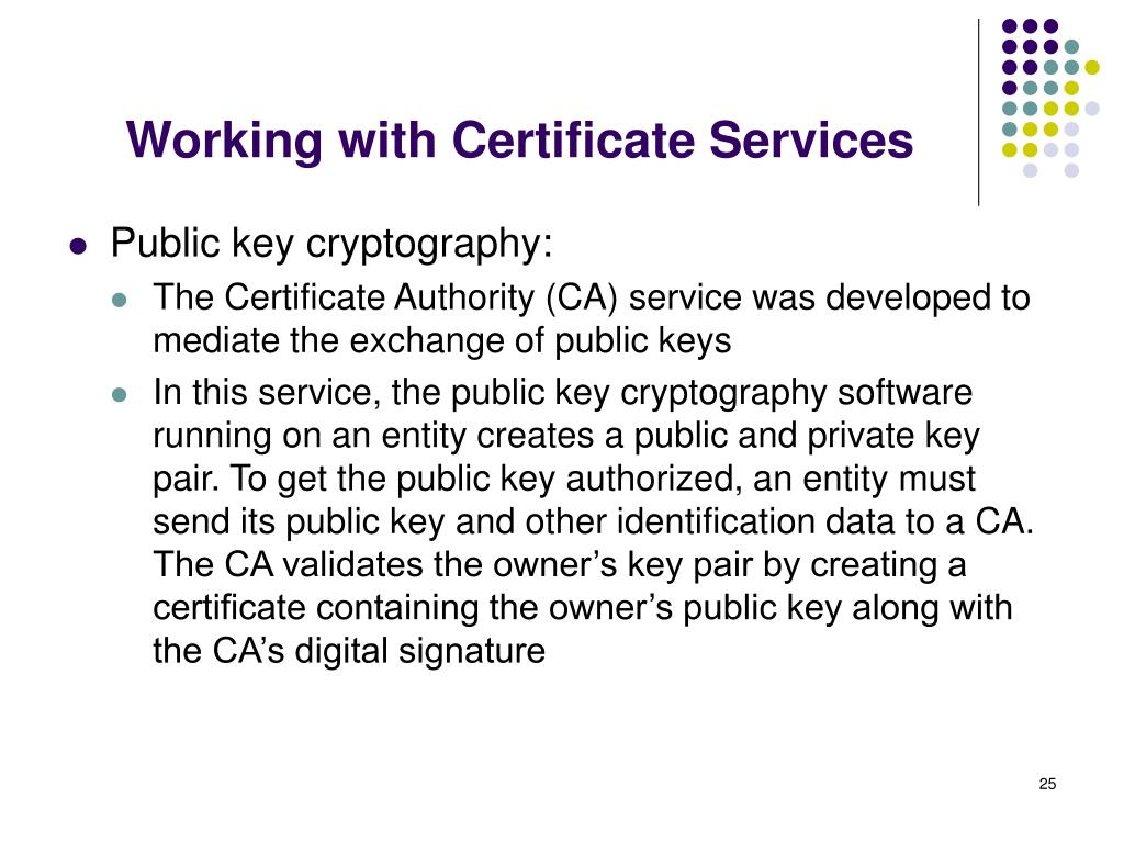 Working with Certificate Services