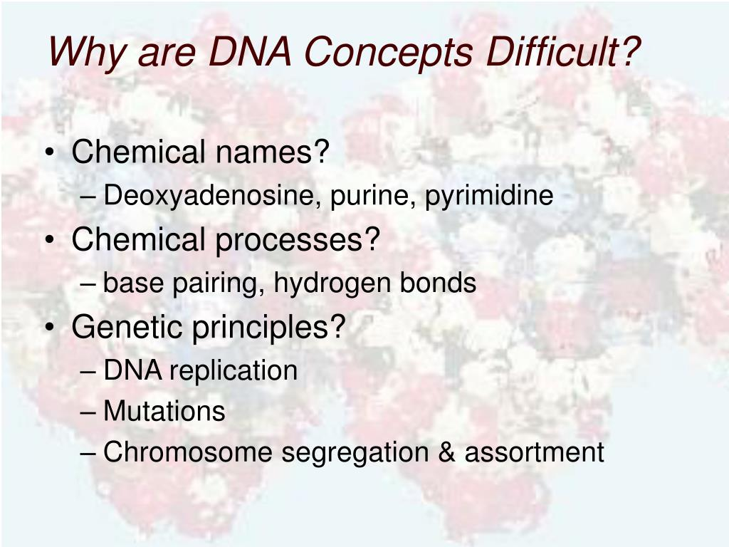 Why are DNA Concepts Difficult?