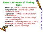 bloom s taxonomy of thinking skills