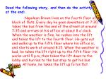 read the following story and then do the activity at the end