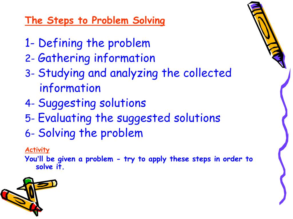 The Steps to Problem Solving