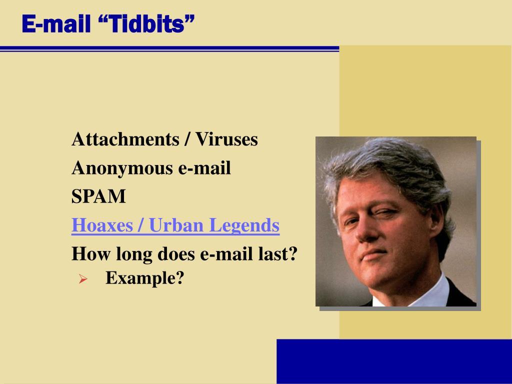 """E-mail """"Tidbits"""""""
