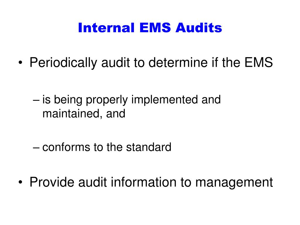 Internal EMS Audits