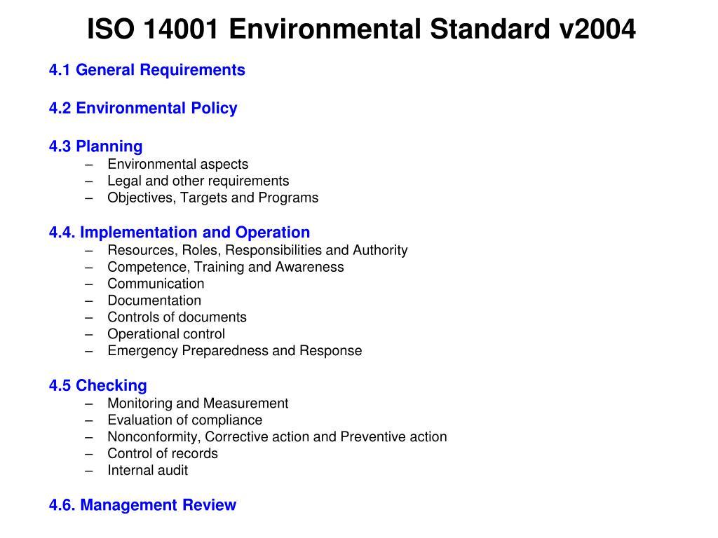ISO 14001 Environmental Standard v2004