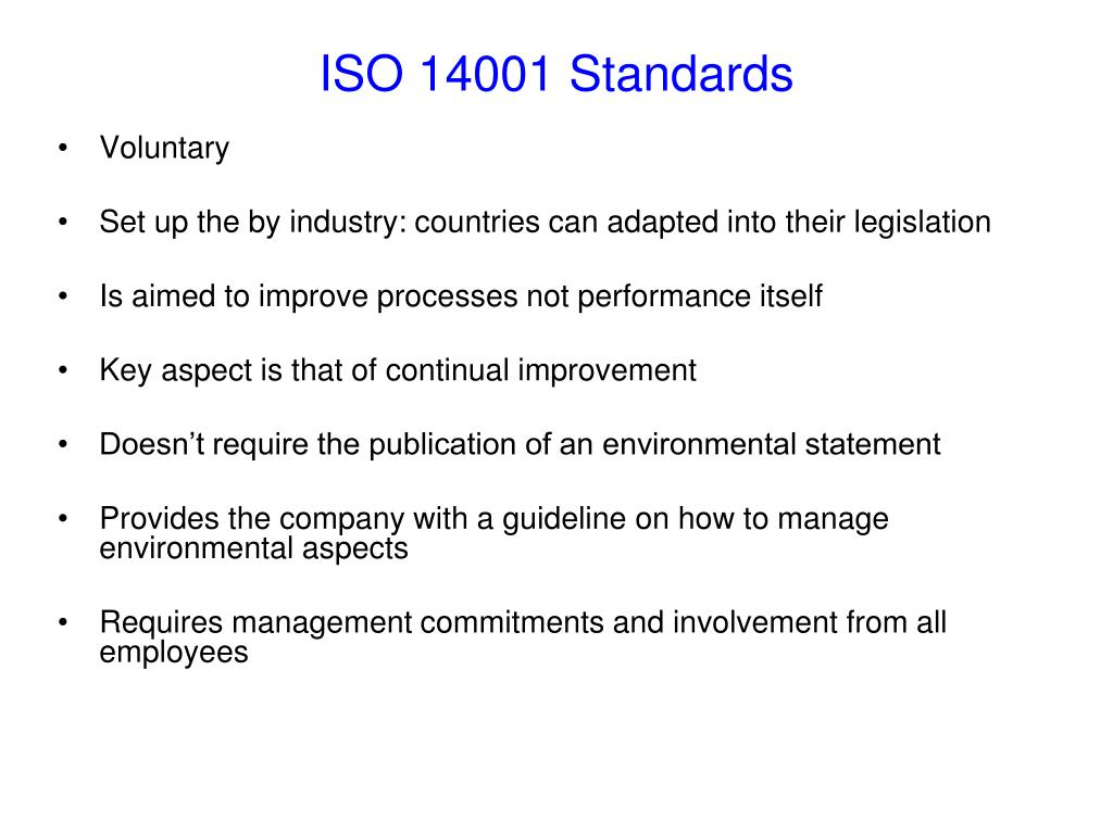 ISO 14001 Standards