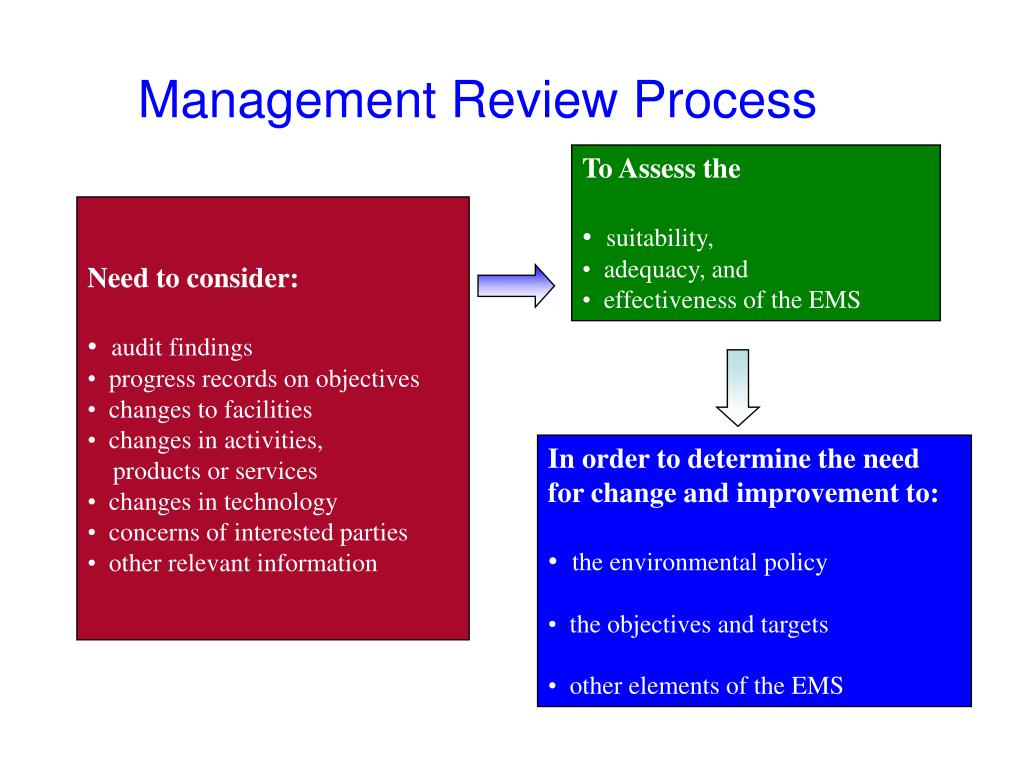 Management Review Process