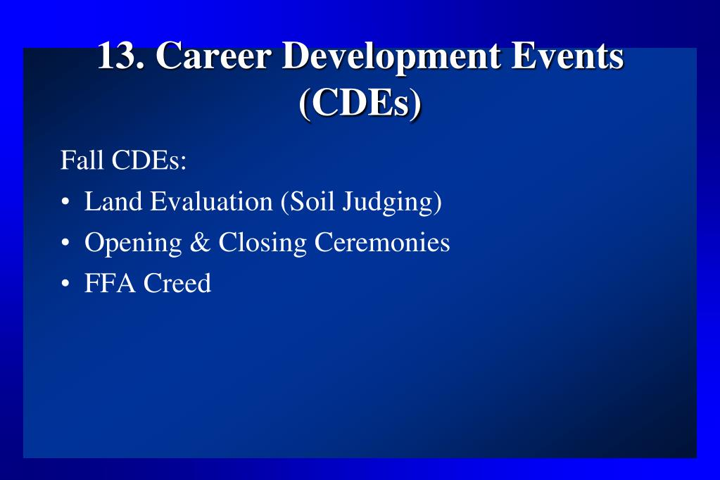 13. Career Development Events (