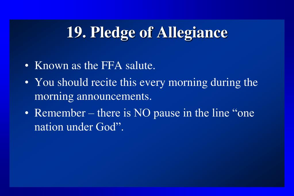 19. Pledge of Allegiance