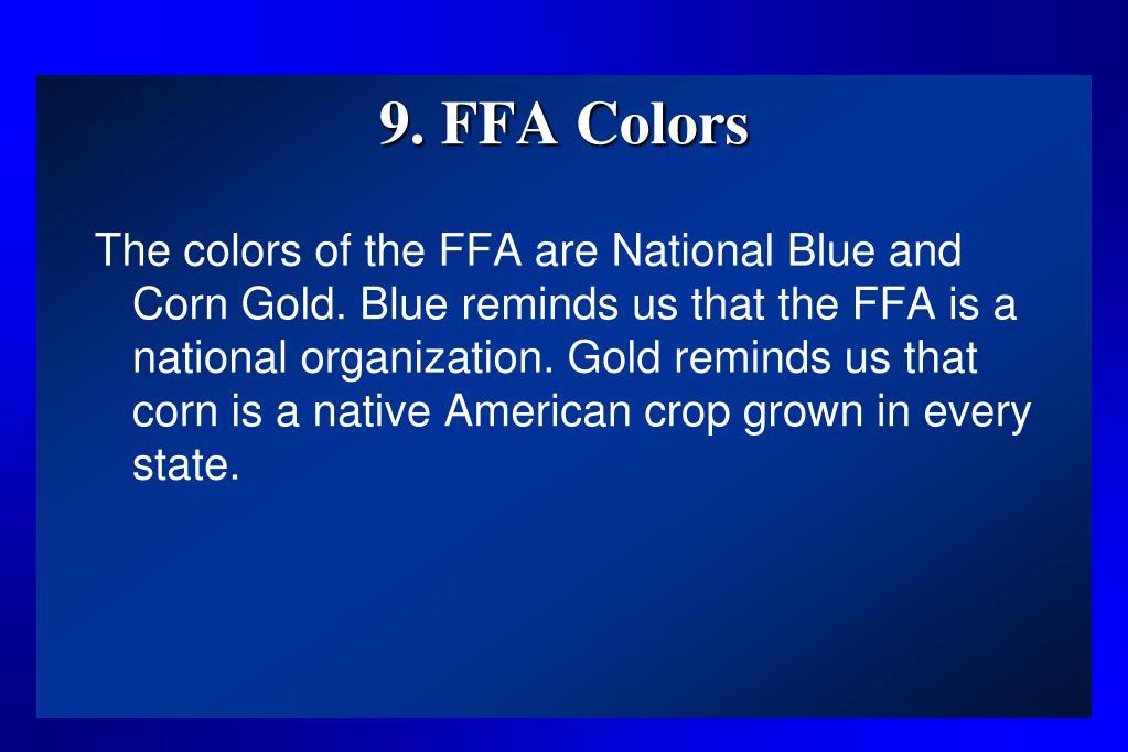 9. FFA Colors