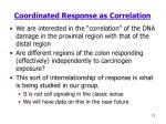 coordinated response as correlation