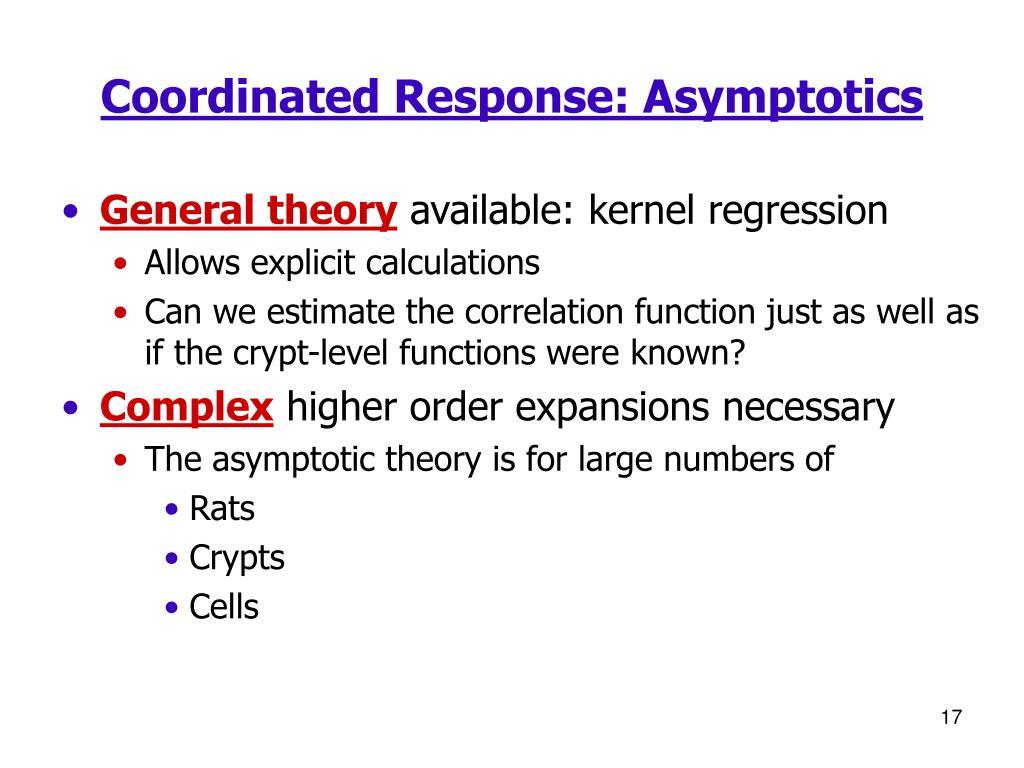 Coordinated Response: Asymptotics